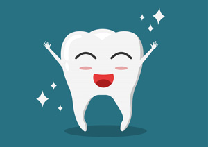 Happy tooth is happy because preventative care like dental sealants make all the difference in pediatric dentistry.